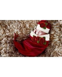 Baby Roses Cocoon & Hat Set